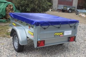 T21 MULTI PURPOSE TIPPING TRAILER - 5ft 8in x 4ft 1in rear view