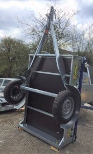 T21 MULTI PURPOSE TIPPING TRAILER - 5ft 8in x 4ft 1in on end