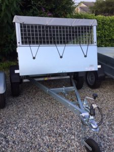T20 - cage tipping trailer with cover