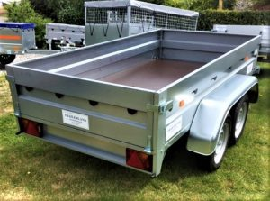 T91A TWIN AXLE GOOD TRAILER 8ft 5in x 4ft 5ins